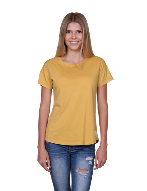 Womens t-shirt - Yellow - SeaShell style - Supima® Cotton