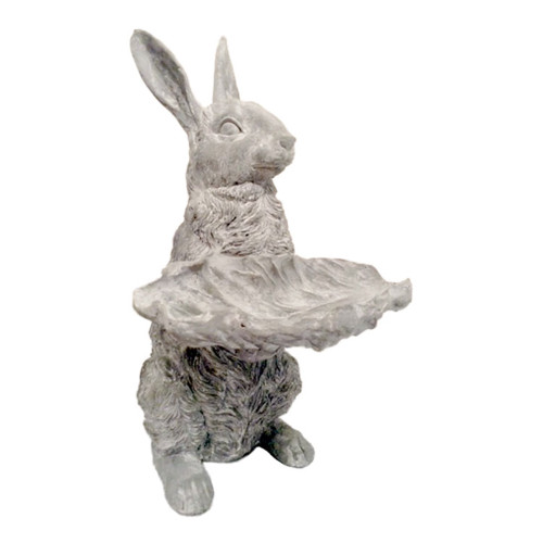 Raz Rabbit withLeaf Dish