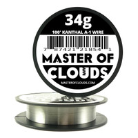 100 ft - 34 Gauge AWG A1 Kanthal Round Wire