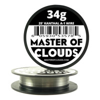 25 ft - 34 Gauge AWG A1 Kanthal Round Wire