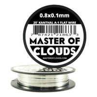 25 ft - 0.8 mm x 0.1 mm Kanthal A1 Flat Ribbon Wire