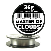 50 ft - 36 Gauge AWG A1 Kanthal Round Wire