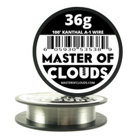 100 ft - 36 Gauge AWG A1 Kanthal Round Wire
