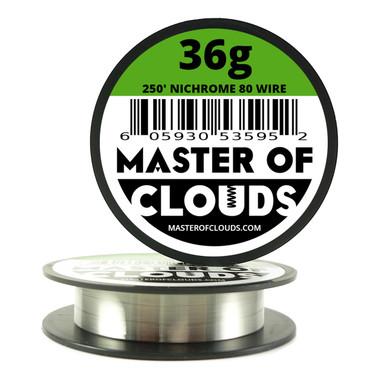Nichrome 80 - 250 ft 36 Gauge Round Wire - Master of Clouds