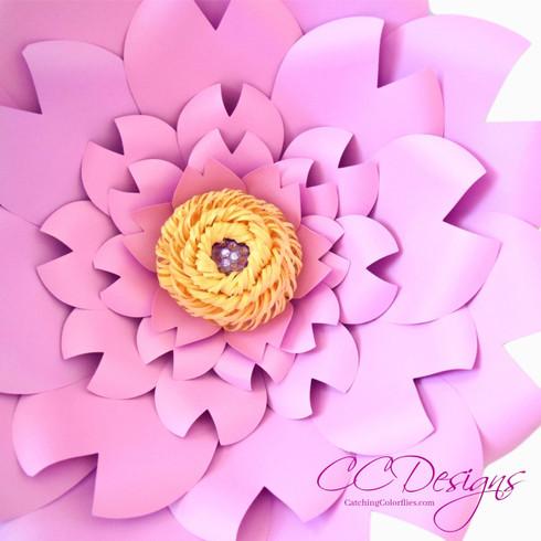 Clara giant paper flower