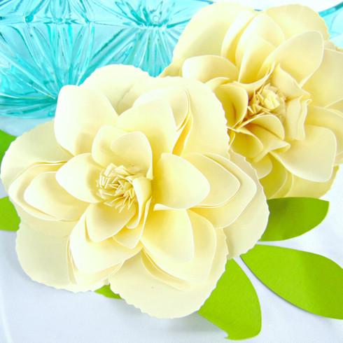 Jewel style paper peony flower.