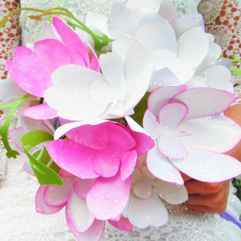 Orchid paper flowers.