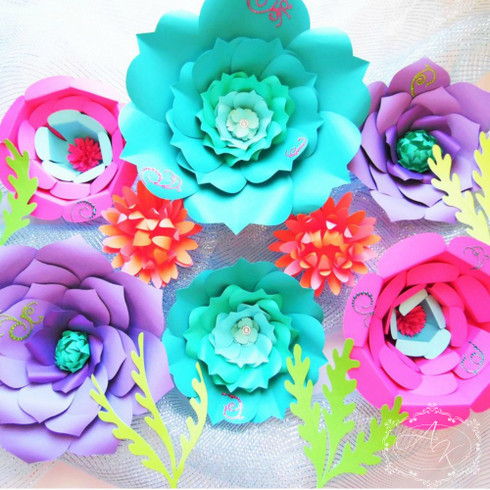 Under the sea flower template set.
