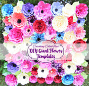 Giant flower backdrop preview for butterfly garden backdrop