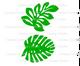 Hawaiian style leaf templates