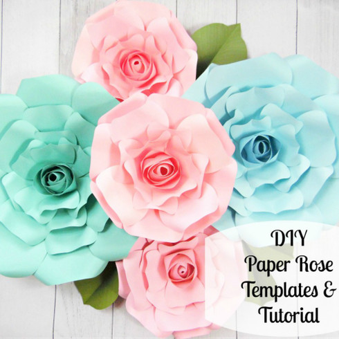 Giant paper rose templates regina style catching colorlfies for Giant paper flower template free