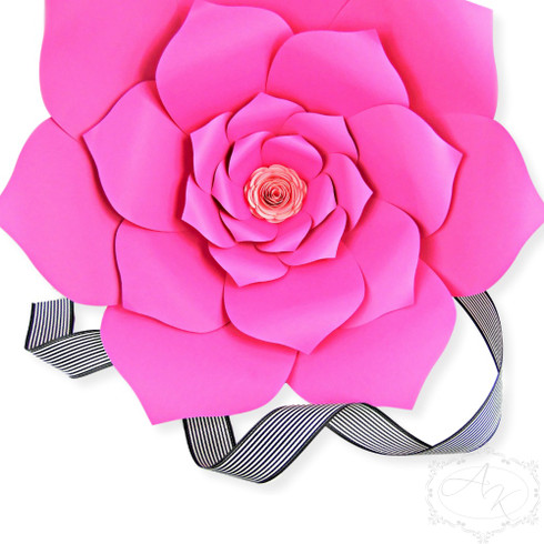 Priscilla style giant flower template.