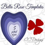 Bella Style Giant Flower Template - Hard Copy Template