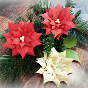 Poinsettia paper flowers.