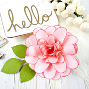 Ruffle Dahlia Style Small Flower Template