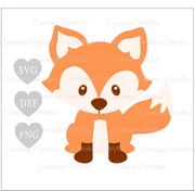 Cute Baby Fox SVG
