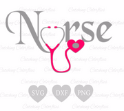 Nursing Heart SVG Cut Files