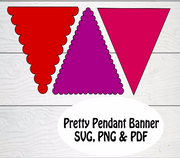 Pendant Banner  SVG cut files