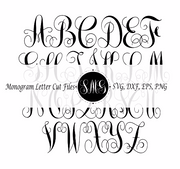 Intertwine Vine Monogram Letters SVG Cut Files