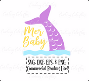 Mer-Baby, Mermaid Tail SVG Cutting Files
