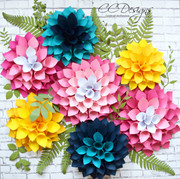 Giant Paper Dahlia Flowers-DIY Flower Wall