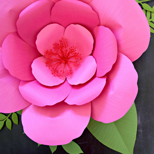 Giant paper flower hibiscus templates catching colorlfies for Giant paper flower template free