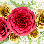 Eden and Sybelle style roses. DIY paper rose templates.