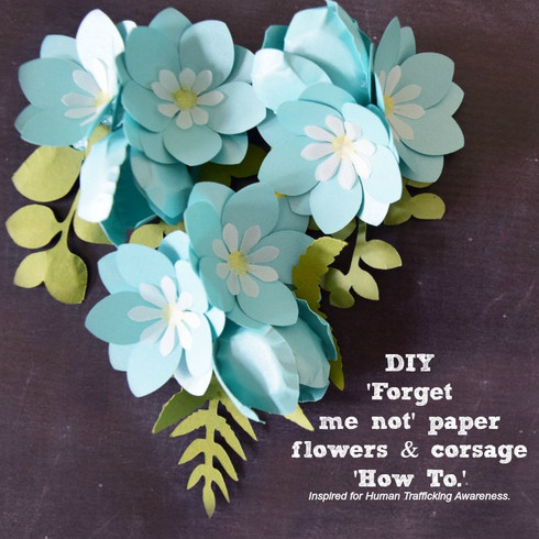 'Forget me not' flowers. Corsage 'how to' included in video. View below description.