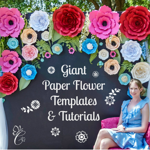 DIY giant flower wall.