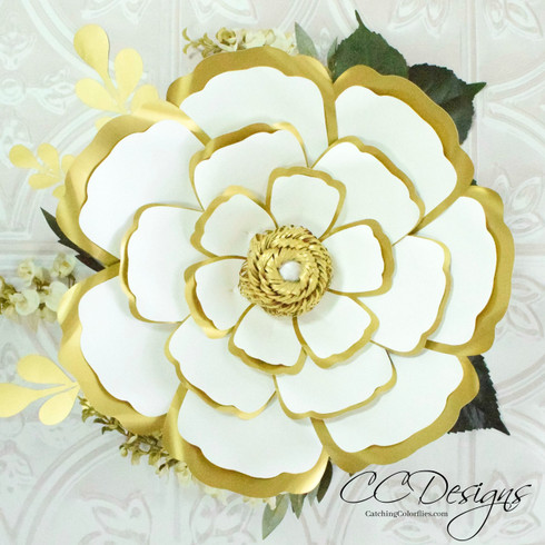 Cora example. Framed petal technique.