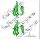 Small fern leaf templates