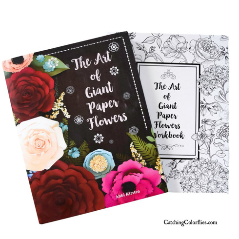 The Art of Giant Paper Flower Book and Workbook