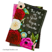 The Art of Giant Paper Flowers book measures 12 inches high by 9 inches wide.