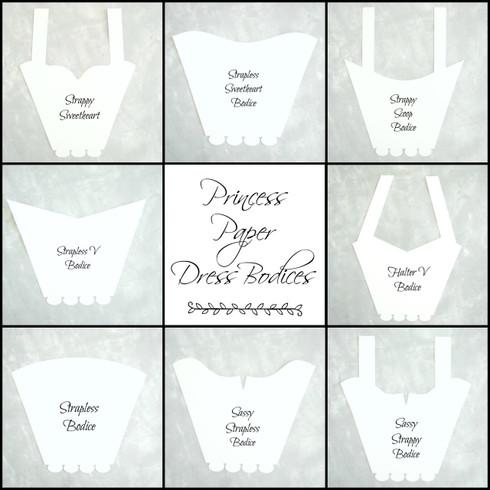 8 dress bodice templates