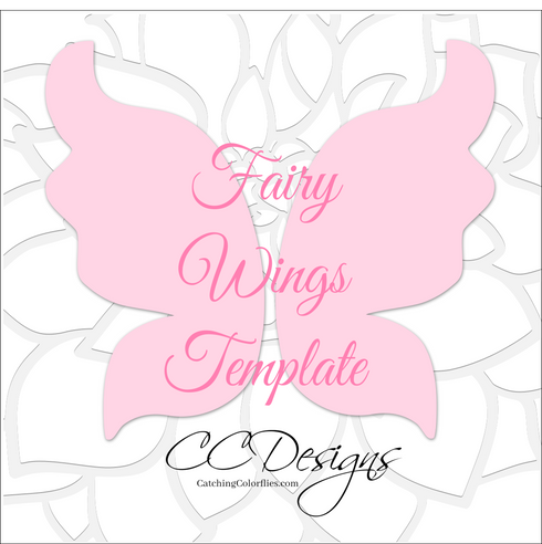 Fairy wings template.