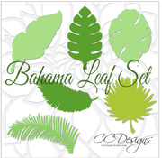 Set of 6 leaf templates.