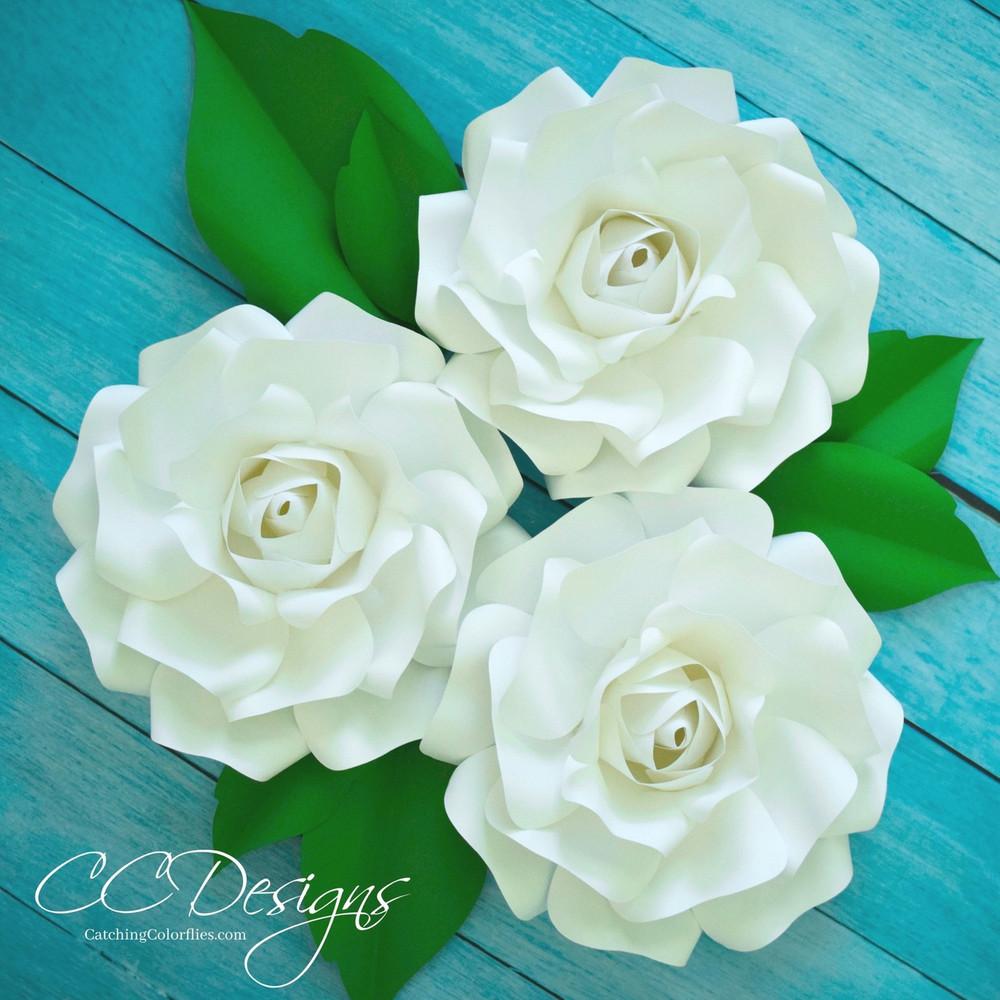 small alora paper rose template