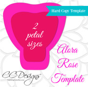 Alora Rose Hard Copy Giant Flower Template - Set of 2 (XL & Small)