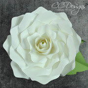 Gardenia Rose Giant Flower Template