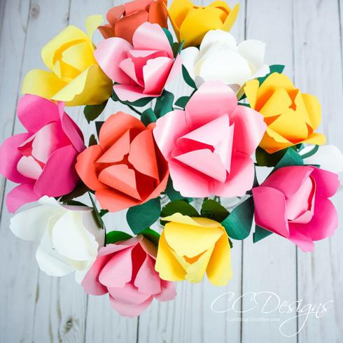 Tulip paper flowers