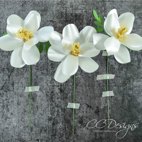 Magnolia paper flowers