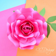 Mini Alora Rose - Small Paper Flower Rose Template