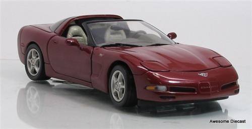 Franklin Mint 1:24 2003 50th Anniversary Edition Corvette Coupe (Maroon)