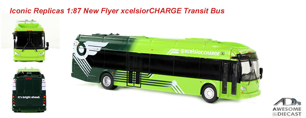 Iconic Replicas 1:87 New Flyer xcelsiorCHARGE Transit Bus