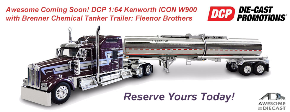 DCP 1:64 Kenworth ICON W900 with Brenner Chemical Tanker Trailer: Fleenor Brothers 33876