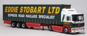 Corgi 1:50 M.A.N Curtainside Tractor Trailer - Eddie Stobart LTD