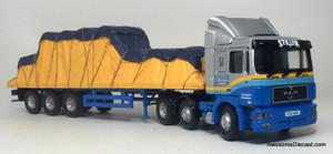 Corgi 1:50 MAN Tractor with Flatbed & Load: Stiller Transport
