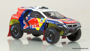 Spark 1:43 2015 Peugeot DKR Dakar Rally Car - Red Bull