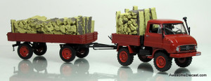 Schuco 1:43  Unimog U411 w/ Trailer & Timber Cargo