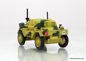 Oxford 1:76 1943 Daimler Dingo Scout Car: 50th RTR, 23rd AB, British Army, Tunisa